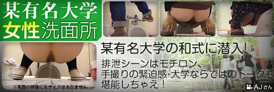 トイレ盗撮|某有名大学女性洗面所|無毛まんこ