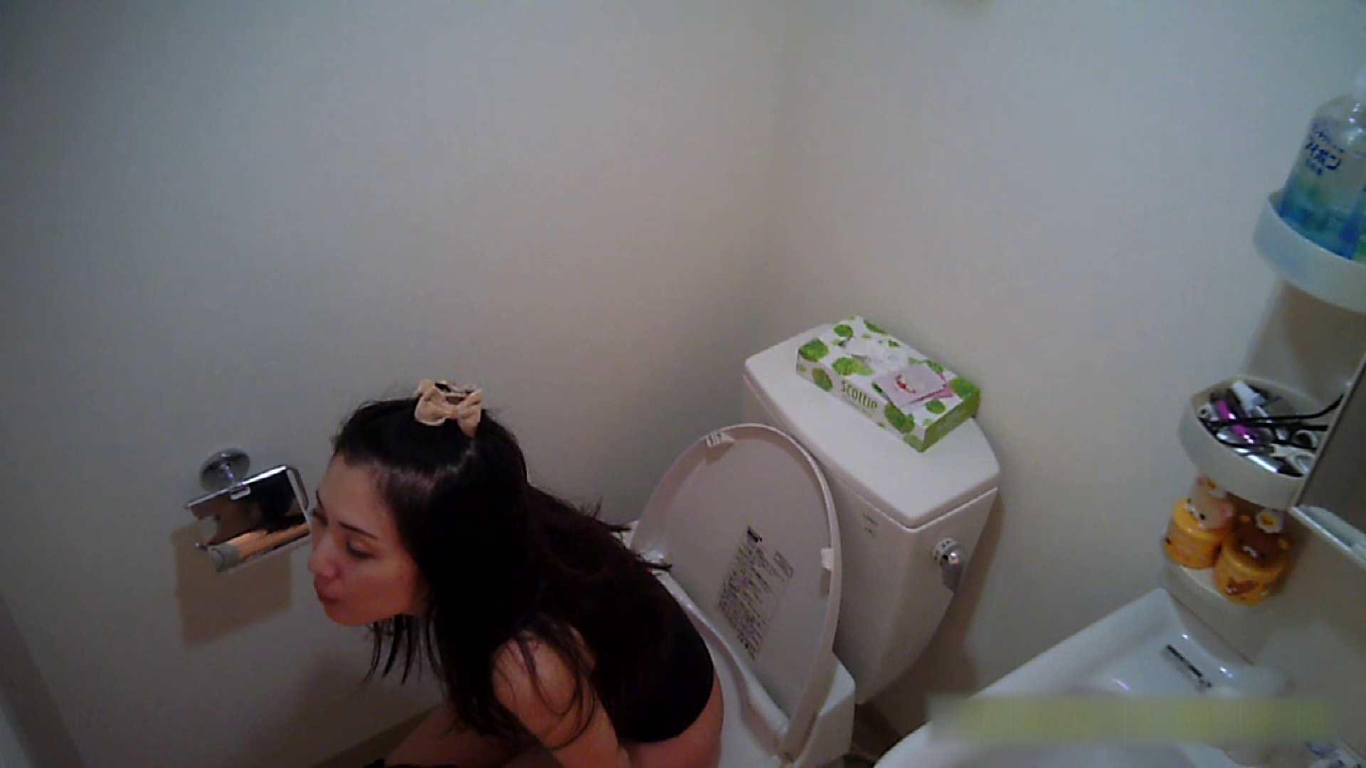 清楚な顔してかなり敏感なE子25歳(仮名)Vol.05 裸でトイレ編 洗面所のぞき ワレメ動画紹介 90枚 53