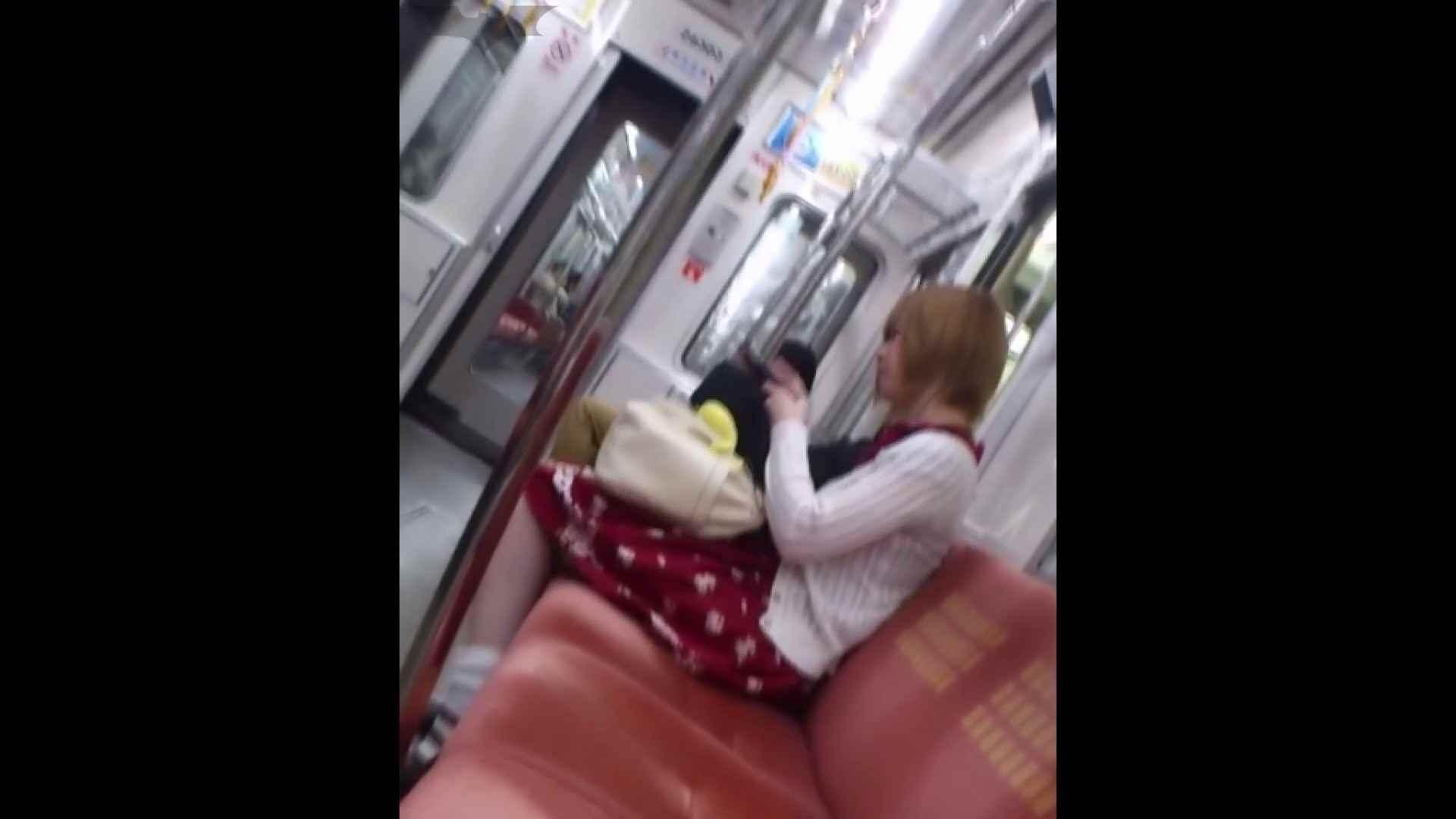 盗撮列車 Vol.49茶髪ショートヘアのスカートの中 細身体型 AV無料動画キャプチャ 104枚 95