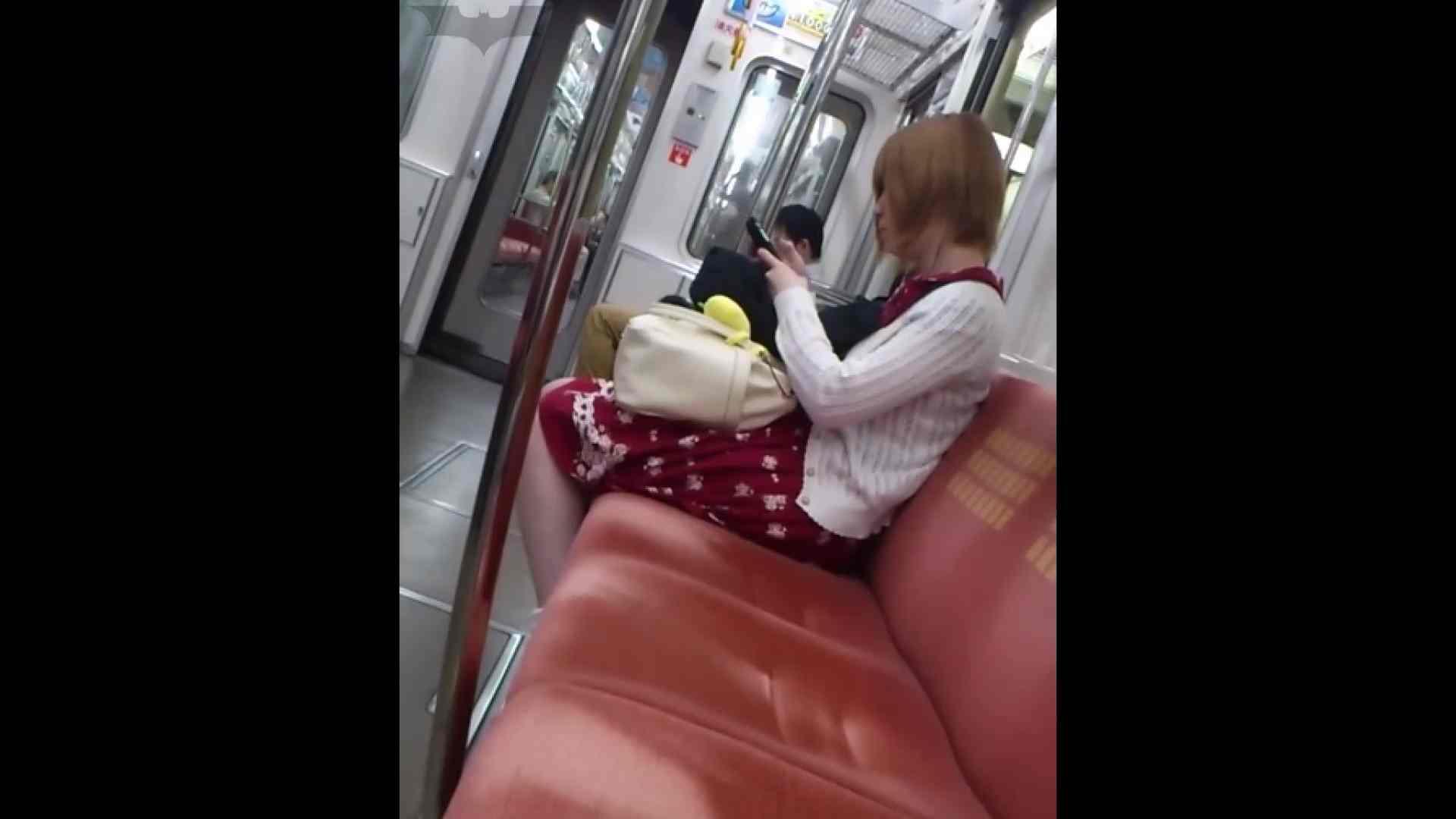 盗撮列車 Vol.49茶髪ショートヘアのスカートの中 車で・・・ オマンコ無修正動画無料 104枚 98