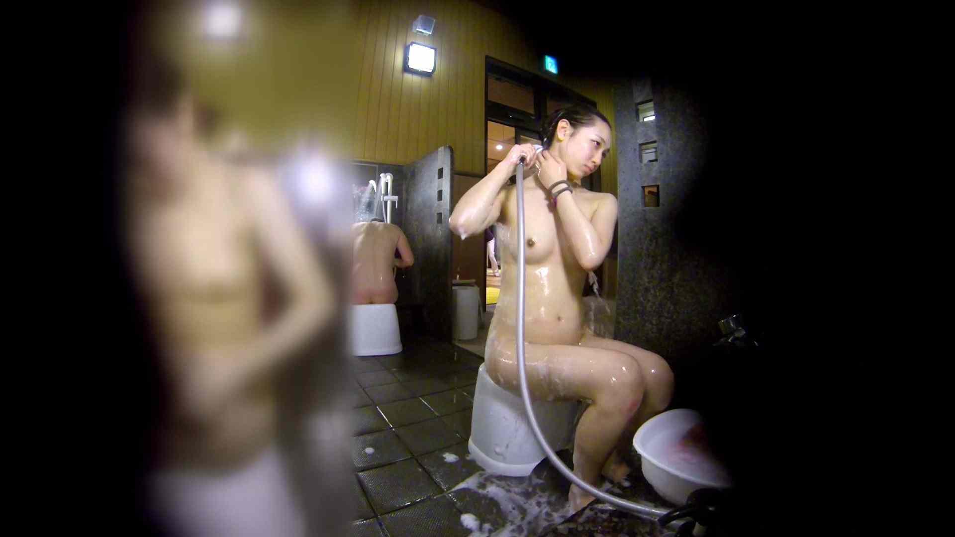 洗い場!チラチラ見てくる理想のボディの清楚さん 女湯のぞき エロ画像 79枚 45